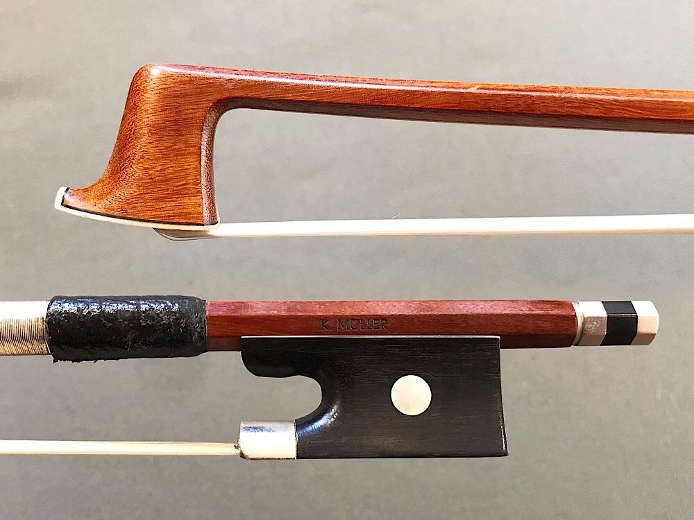 K.Müller Pernambuco violin bow ebony/nickel