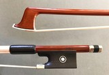 KNOLL octagonal Brazilwood ebony / nickel violin bow, GERMANY