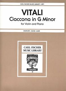 Carl Fischer Vitali, Tomasso (David): Chaconne (violin & piano)