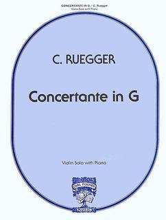 Carl Fischer Ruegger, Charlotte: Concertante in G (violin & piano)
