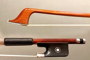 Hill MARCEL LAROQUE German cello bow, silver mounted