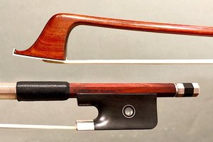Brazilian H. RODRIGUES - BRAGANCA PTA cello bow, ebony/silver