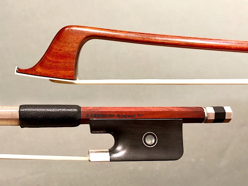 Brazilian H. RODRIGUES - BRAGANCA PTA cello bow, ebony/silver
