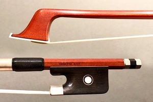 Japanese GUY JEANDEL Pernambuco cello bow, nickel & ebony, JAPAN