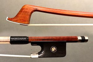 Emile Rameau nickel mounted, octagonal cello bow, GERMANY