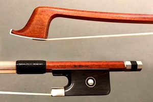 Werner G. WERNER 4/4 Pernambuco cello bow, nickel mounted ebony frog, octagonal stick