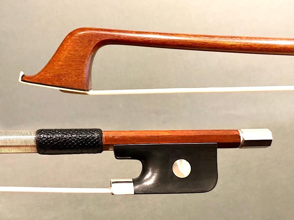 Cello Bow, Ebony/Silver, Pernambuco, Unbranded