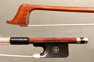 *J. Sandner* cello bow engraved silver/ebony