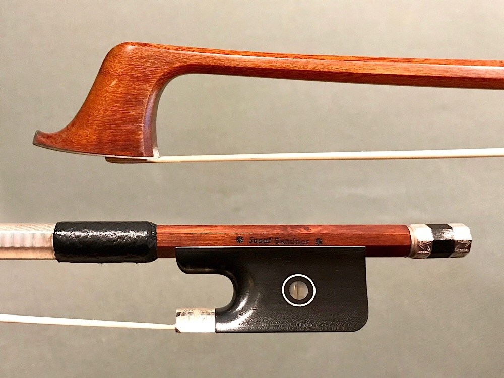 *J. Sandner* cello bow engraved silver/ebony