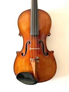 "French German violin with torn ""VUILLAUME"" label, ca 1925"