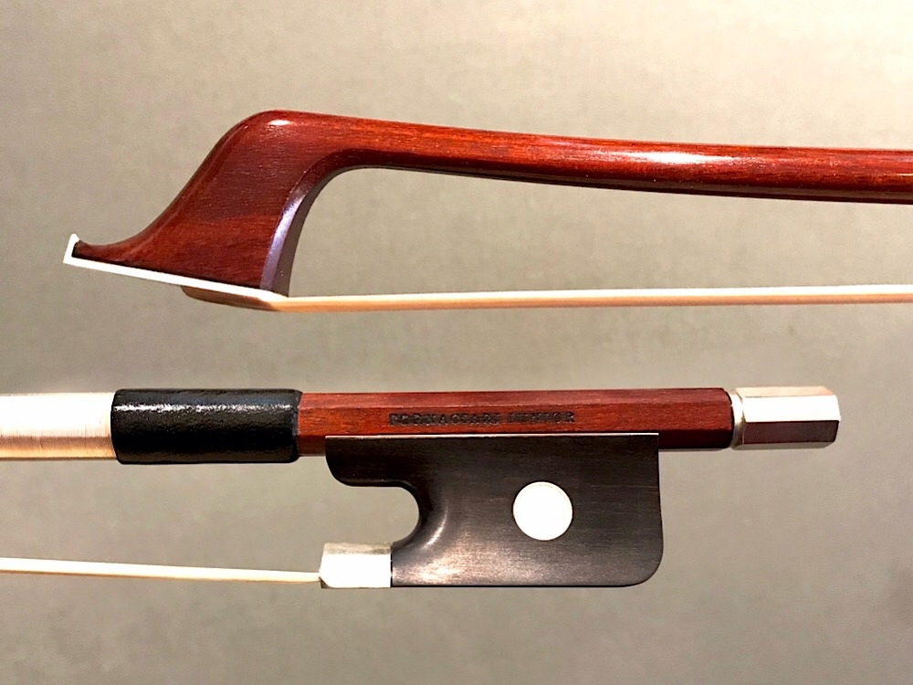 Brazilian FORNACIARI JUNIOR half-mounted nickel cello bow, Brazil
