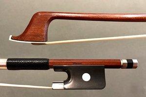 Werner WERNER 4/4 Brazilwood cello bow, nickel full-mounted ebony frog, round stick