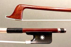 Carbon Fiber cello bow, Pernambuco Veneer, silver/ebony