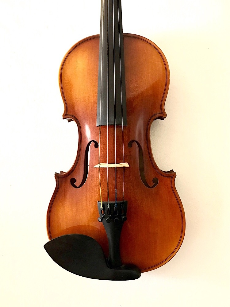Czech Czech Strad model 4/4 violin finished by Rezvani Luthiers, 300A, 2016