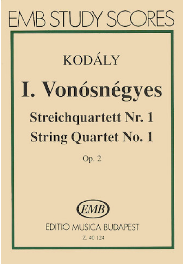 HAL LEONARD Kodaly, Zoltan: SCORE String Quartet Op.2No. 1 (Special Import)