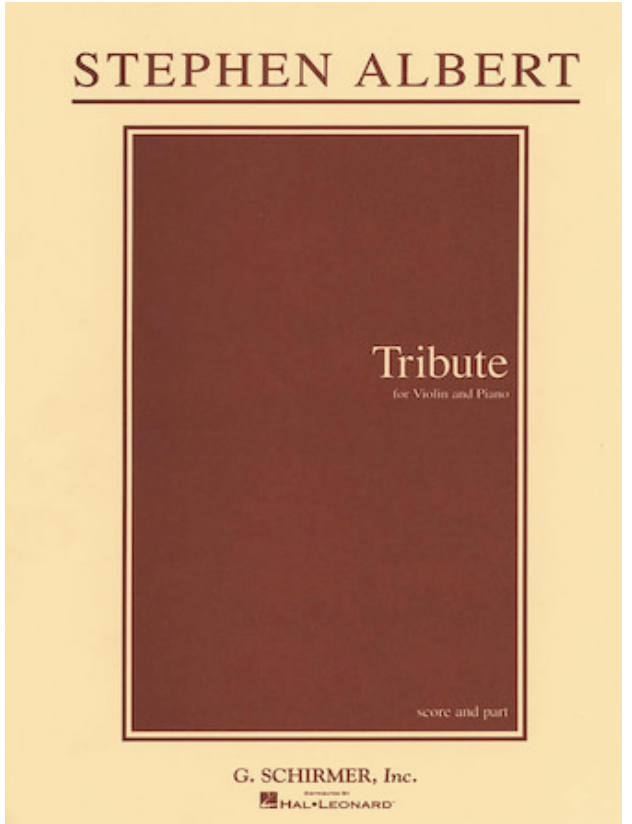 HAL LEONARD Albert, Stephen: Tribute (violin & piano)