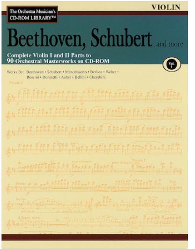 HAL LEONARD Orchestra Musician's Library: Vol.1 Beethoven, Schubert & More (violin 1 & 2)