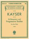 Schirmer Kayser (Mogill): 36 Elementary & Progressive Studies, Op.20 (viola) Schirmer