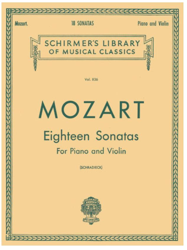 HAL LEONARD Mozart, W.A. (Schradieck): Eighteen Sonatas (Piano & Violin)