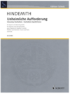 HAL LEONARD Hindemith, Paul: Uncanny Invitation, score and parts (soprano and string quartet)