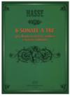 HAL LEONARD Hasse, Johann Adolf: 6 Sonate a Tre (flute, violin, cello, piano)