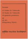 HAL LEONARD Dotzauer (Pejtsik): 113 Studies Vol.3, No. 63-85 (cello), Edito Musica Budapest