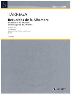 HAL LEONARD Tarrega, F (Birtel).: Recuerdos de la Alhambra (violin, Cello & piano)