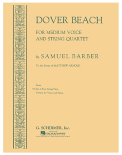 HAL LEONARD Barber, Samuel: Dover Beach (string quartet and med. voice)