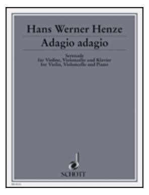 HAL LEONARD Henze, Hans Werner: Adagio Adagio-Serenade (Violin, Cello, Piano)
