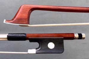 Götz Conrad Götz cello bow, with nickel-mounted ebony frog
