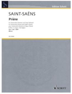 HAL LEONARD Saint-Saens, Camille: Priere Op.158 (Cello & Organ or Piano)