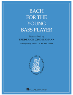 HAL LEONARD Bach, J.S.:(Zimmermann): Bach for the Young Bass Player (bass & piano)
