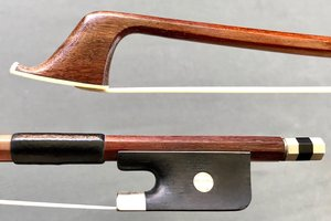 W. SEIFERT cello bow, octagonal stick with nickel mounted ebony frog, GERMANY
