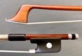 Boyd POULSEN cello bow, silver-mounted, round Pernambuco stick, USA