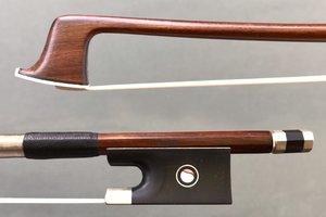 JonPaul JonPaul IPE nickel 4/4 violin bow with ebony frog with Parisian eye