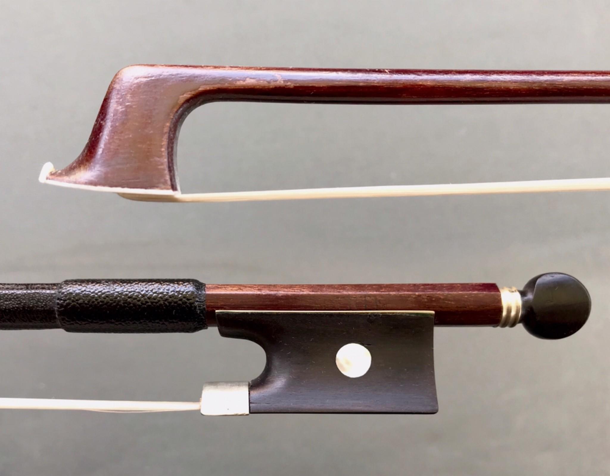 TOURTE brand old German violin bow, nickel