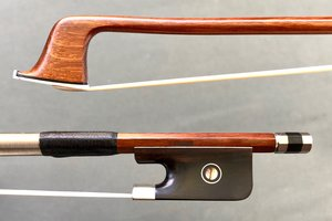 JonPaul JonPaul IPE nickel 4/4 viola bow with ebony frog with Parisian eye