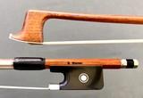 Werner G. WERNER 4/4 Pernambuco viola bow, nickel mounted ebony frog, round stick