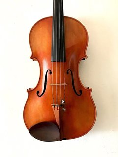 "Unlabeled 16 1/8"" flamed high quality  viola, CHINA"