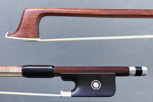 W. SEIFERT nickel-mounted Brazilwood viola bow, GERMANY