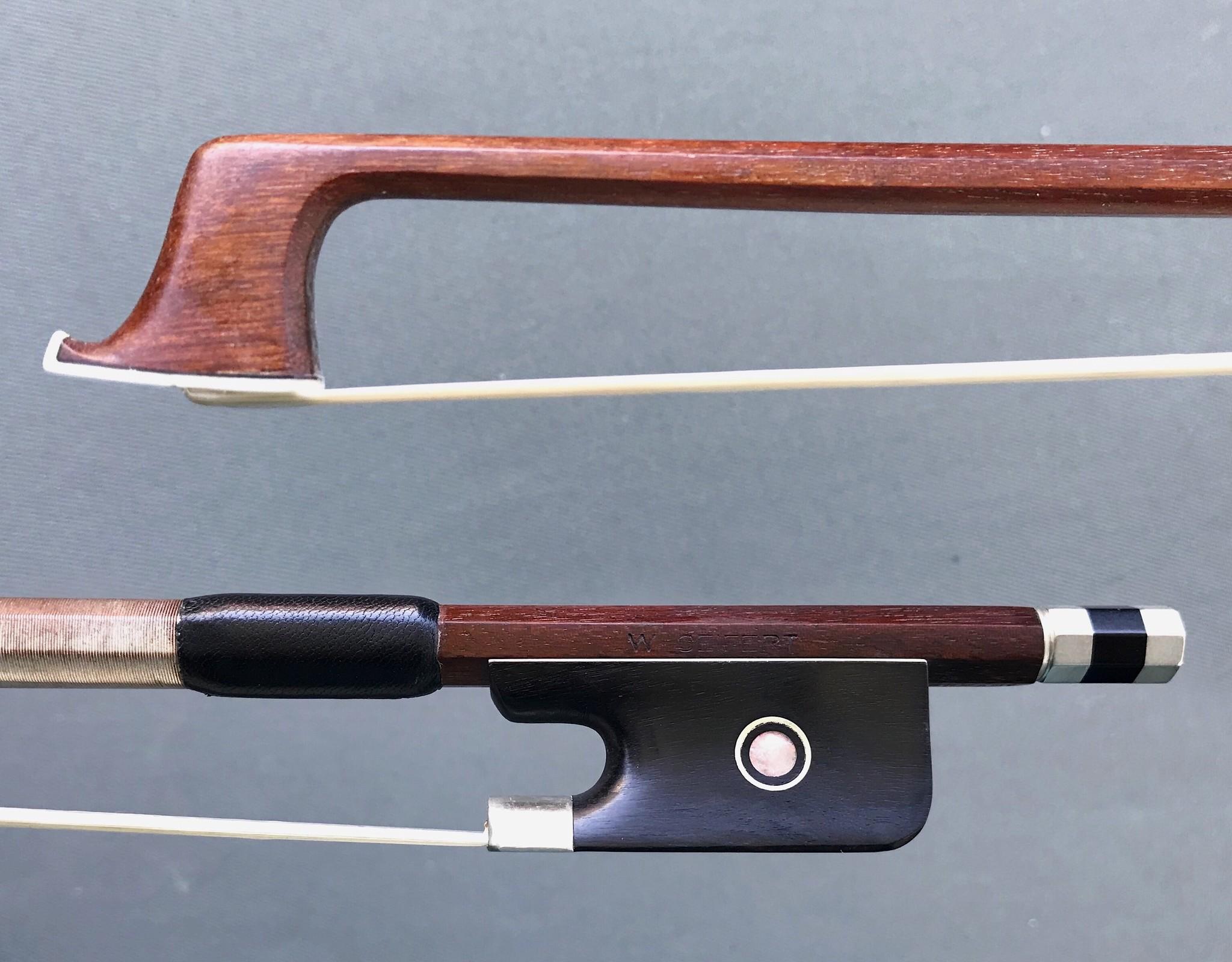 W. SEIFERT nickel-mounted Brazilwood viola bow, GERMANY