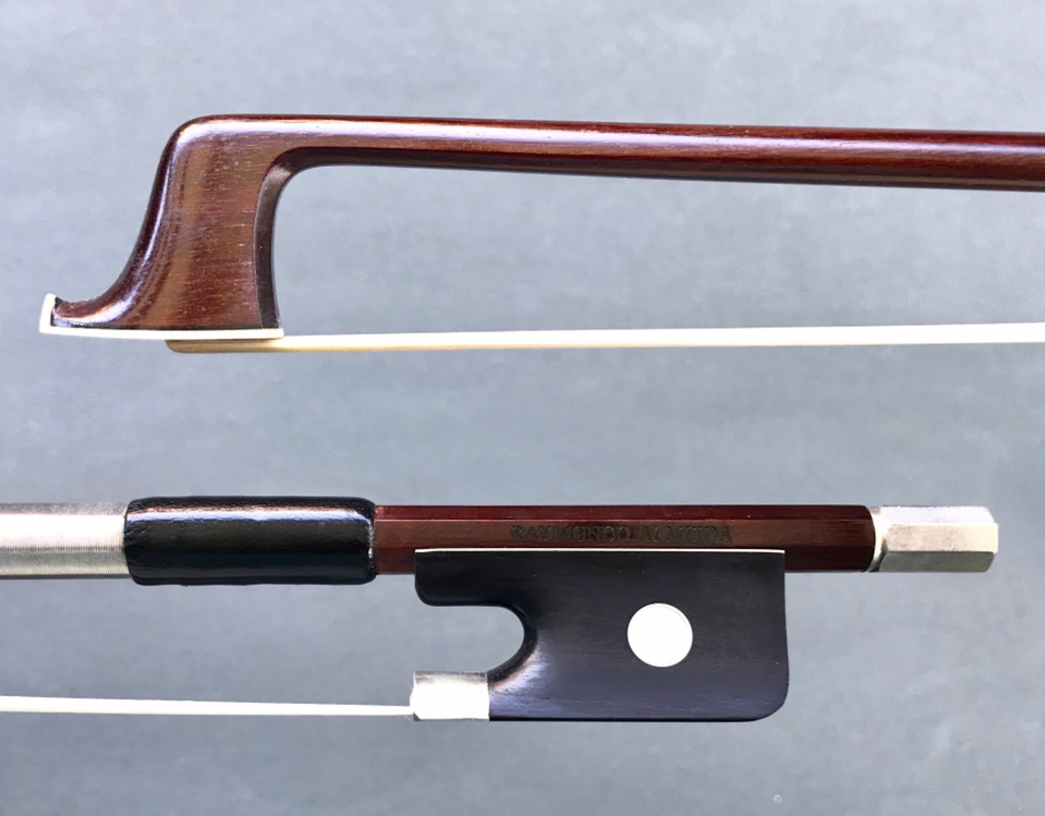 Brazilian RAYMUNDO ALMEIDA half-mounted nickel viola bow, Brazil