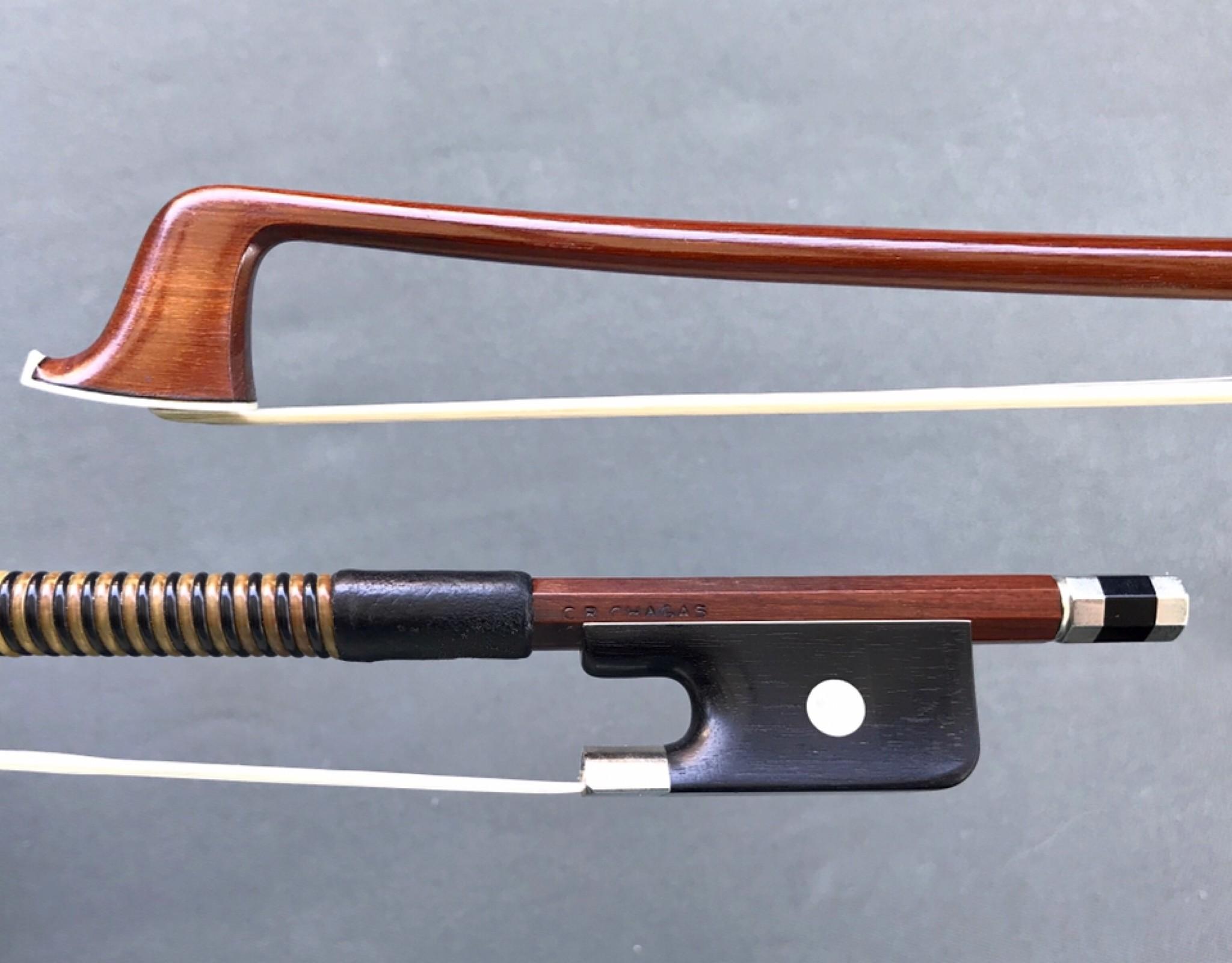 Arcos Brasil C.R. CHAGAS viola bow, ebony and nickel