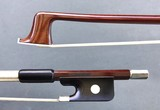 Brazilian ELIAS GUASTI half-mounted nickel viola bow, Brazil