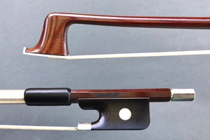 Brazilian ELIAS GUASTI half-mounted nickel viola bow, Brazil