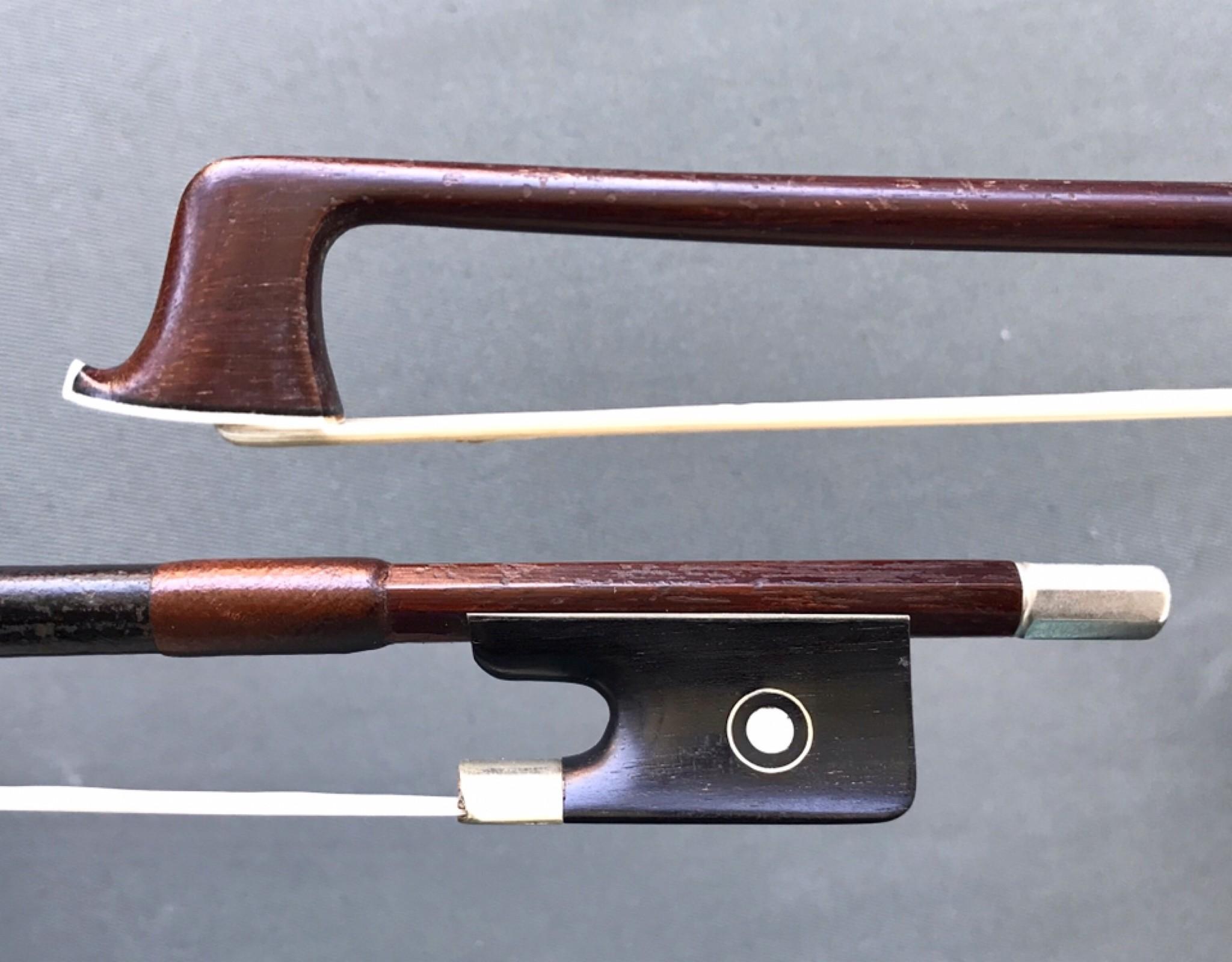 German Brazilwood viola bow, nickel