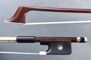JonPaul JonPaul CORONA carbon fiber nickel cello bow with brown finish, USA