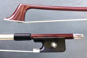 JonPaul JonPaul MUSE carbon-fiber silver cello bow with brown finish, USA