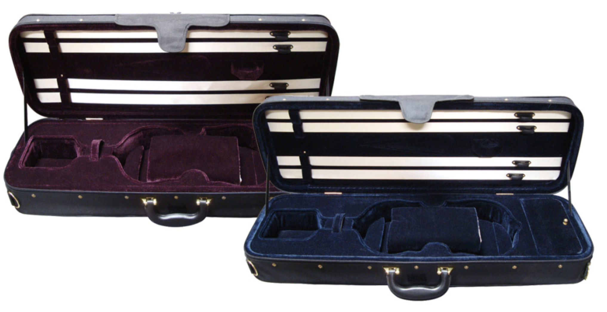 Angeli 4/4 student oblong violin case, Red int. / Black ext.