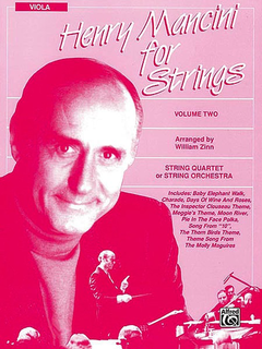 Alfred Music Henry Mancini for Strings: Volume 2, Viola.